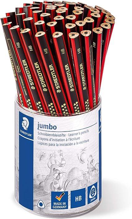 Lápiz para principiantes Staedtler 1285 2 KP50 Noris Club Jumbo, grado de dureza HB, estuche con 50 unidades: Amazon.es: Oficina y papelería