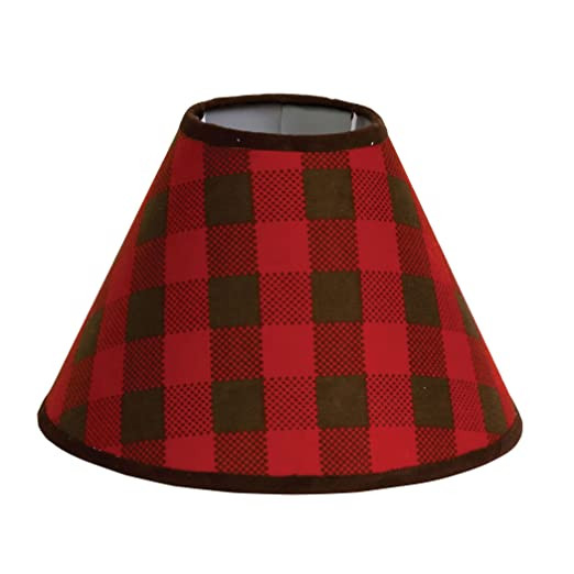 Northwoods Red Buffalo Check Lamp Shade for sale