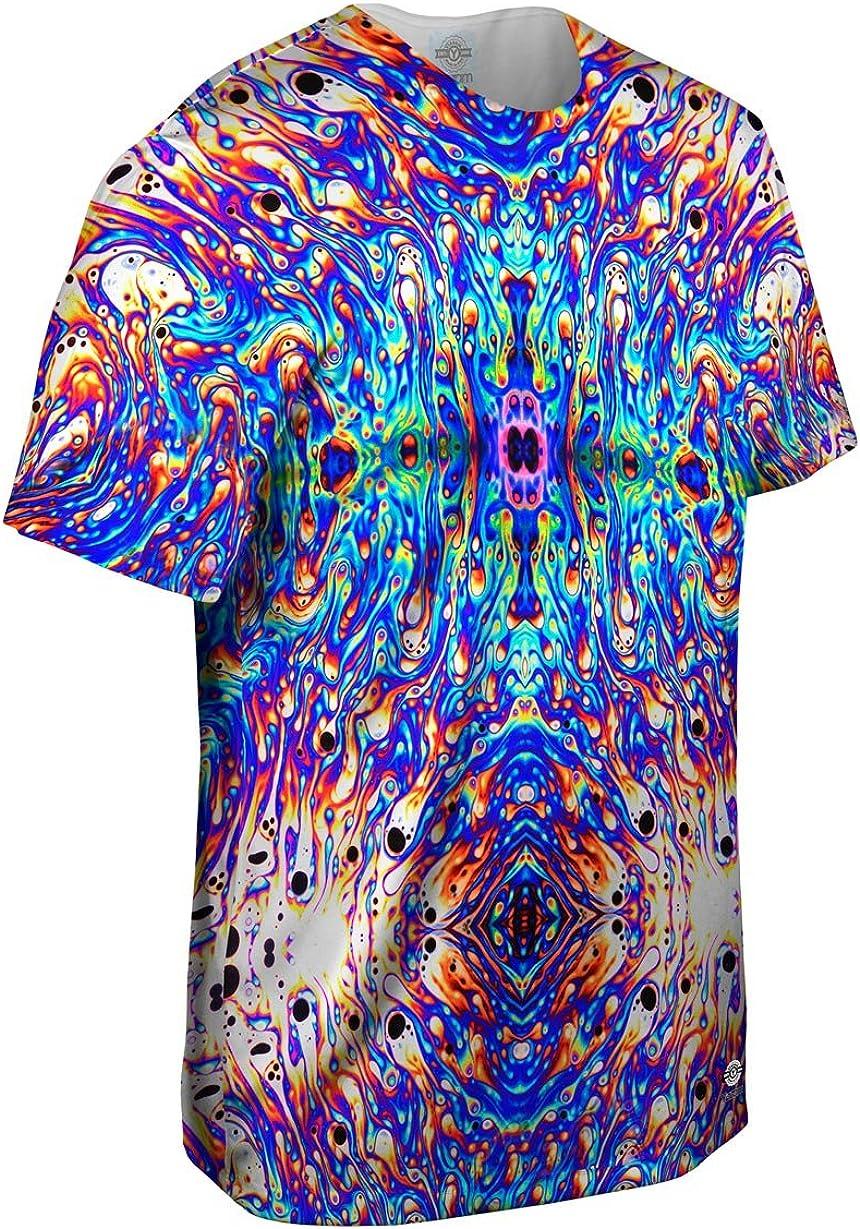 Yizzam- Camisa para Hombre con diseño psicodélico de jabón de neón, Color Violeta