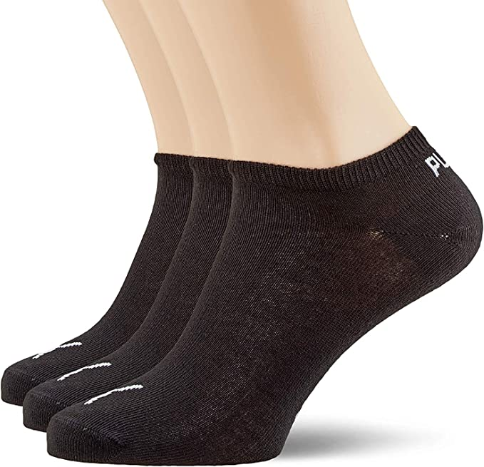 Mens Branded Puma Quarter 3 Pack Sport Running Trainers Socks Size 6-8 9-11