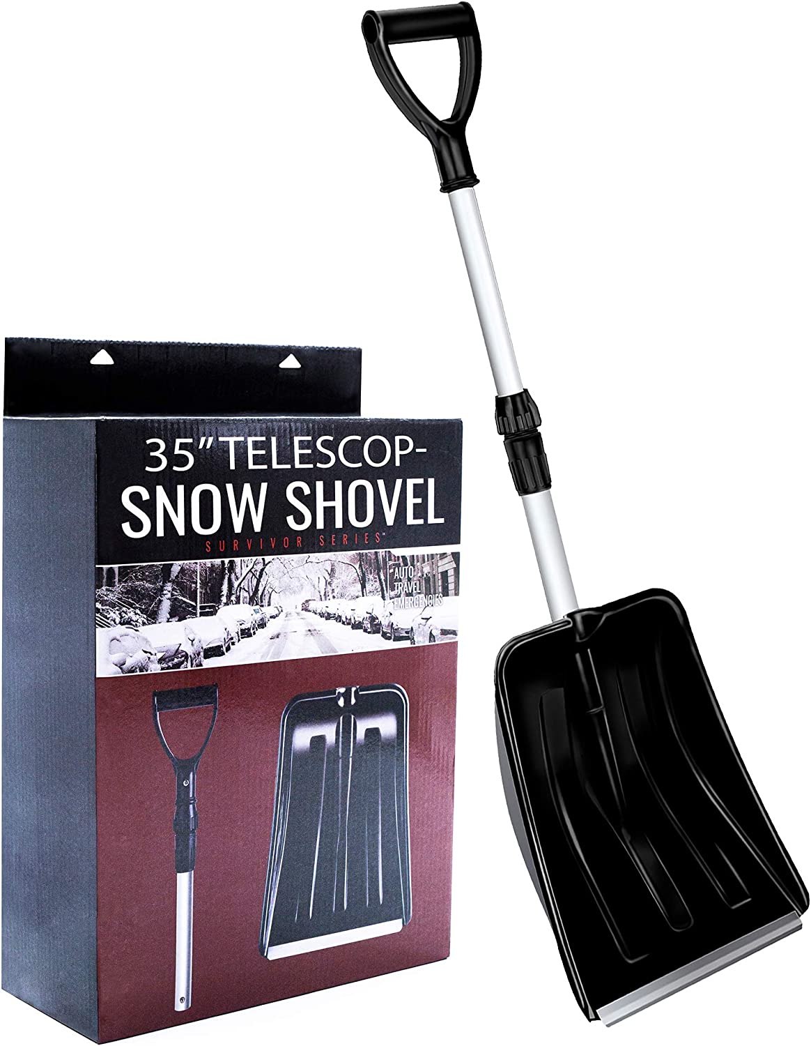 ROUENOK Snow Shovel, Compact Snow Shovel
