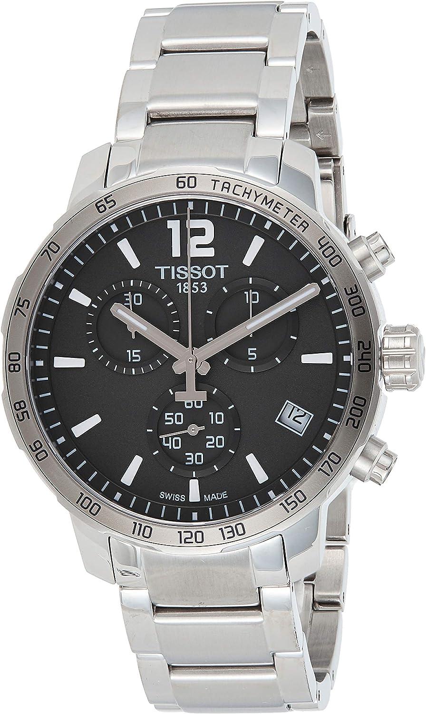 Reloj de Pulsera Tissot para Hombre, cronógrafo, Cuarzo, Acero Inoxidable T095.417.11.067.00