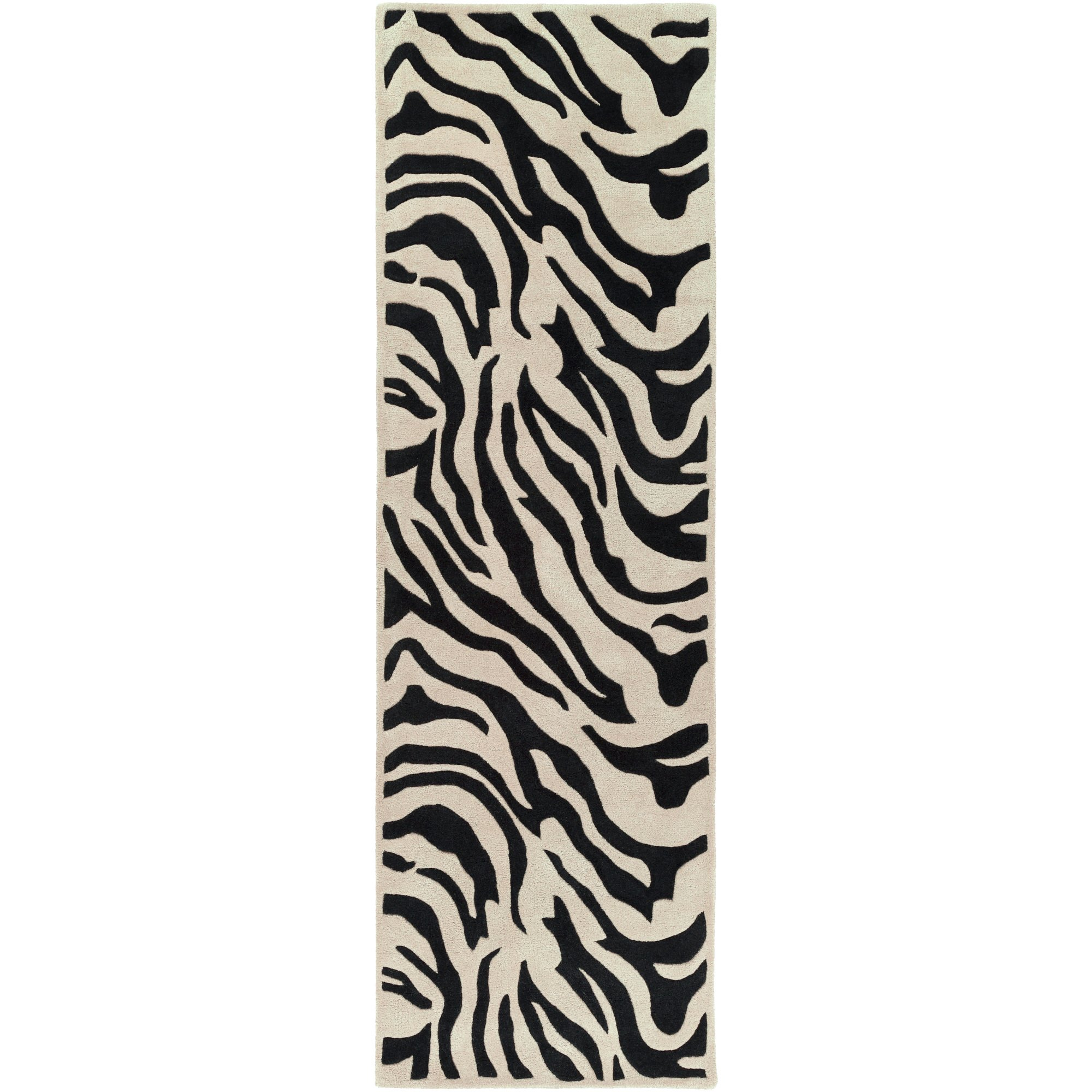 Surya Goa G-59 Contemporary Hand Tufted 100% New Zealand Wool Ivory 2'6'' x 8' Animal Runner