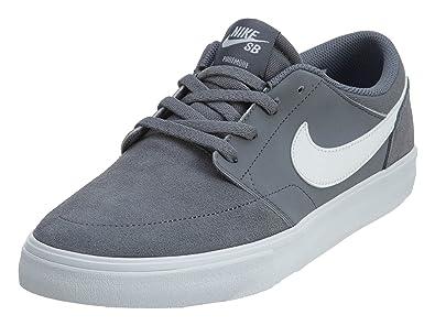 8ca28a8c4974b Nike SB Portmore II Solar Cool Grey/White/Black Men's Skate Shoes