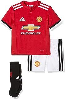 7668bc8ce Amazon.com  adidas 2018-2019 Man Utd Home Little Boys Mini Kit ...