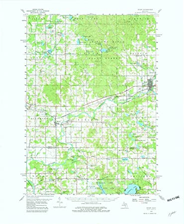 Amazon Com Michigan Maps 1959 Evart Mi Usgs Historical