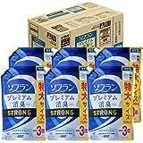 【ケース販売 大容量】ソフラン プレミアム消臭プラス STRONG 柔軟剤 ワイルドシトラスの香り 詰め替え 1350ml×6個