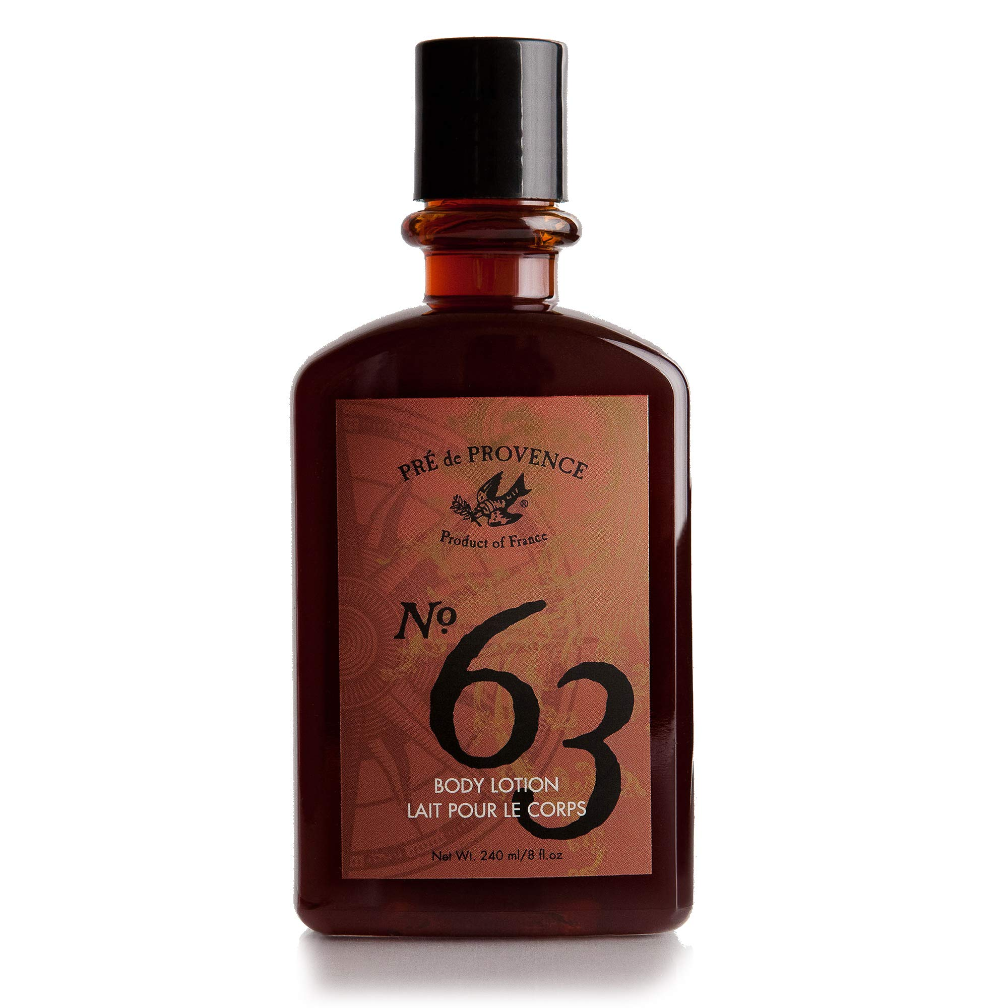 No. 63 Men's Lotion, Aromatic, Warm, Spicy Masculine Fragrance, Enriched With Natural & Repairing Shea Butter & Aloe Vera (8 fl oz) by Pre de Provence