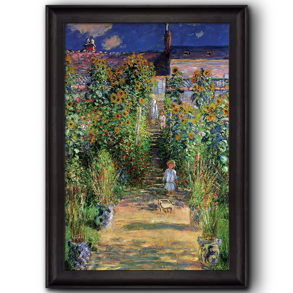 Wall26   The Artistu0027s Garden At Vetheuil By Claude Monet   Framed Art  Prints, Home Decor   24x36 Inches