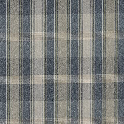 Amazon Com C643 Blue Green And Ivory Large Plaid Country Style