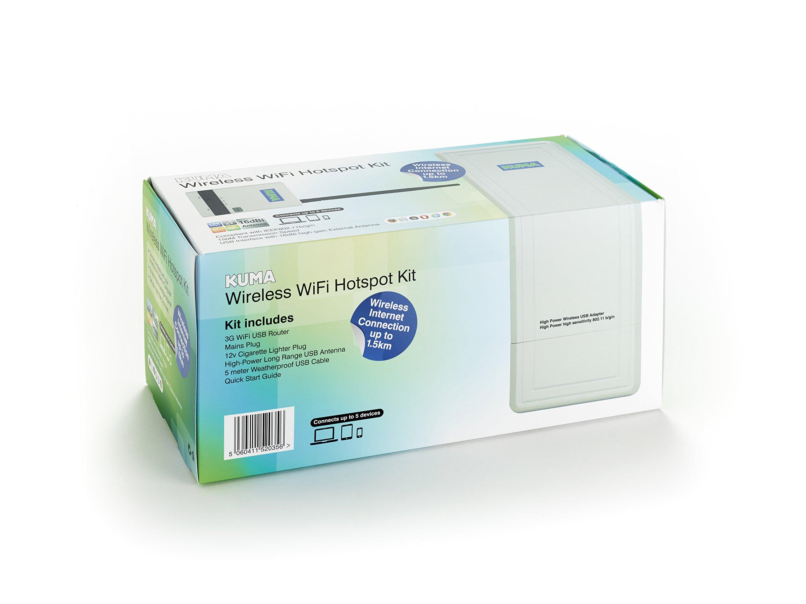 Kuma Hi-Gain Long Range Wireless Wifi Signal Booster Extender Hotspot Access Point Network Repeater for RVs, Motorhomes, Trucks & Boats by KUMA (Image #6)