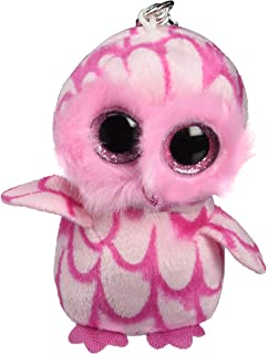 Ty beanie boos pinky-pink owl clip
