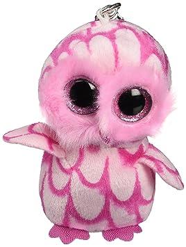 Ty - Ty36594 - Felpa - Clip de Beanie Boo - Pinky Búho - Peluche Llavero
