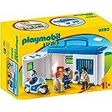 Playmobil 1.2.3 Comisaría Policía Maletín Juguete geobra Brandstätter 9382