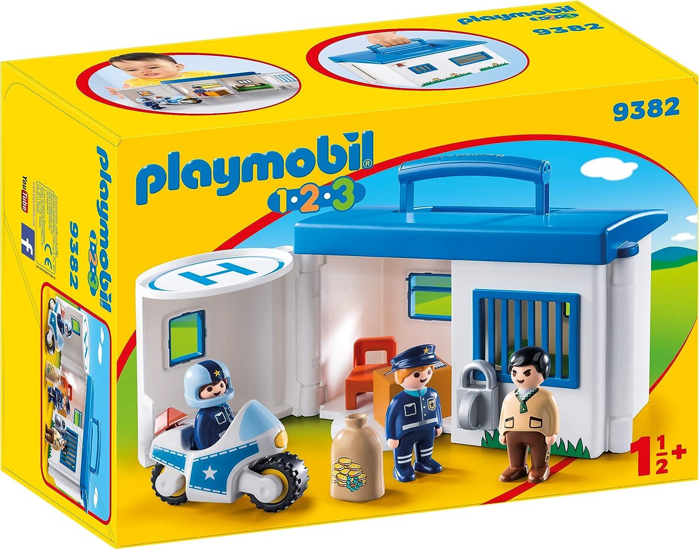 Playmobil 1.2.3 Comisaría Policía Maletín Juguete geobra Brandstätter 9382: Playmobil: Amazon.es: Juguetes y juegos