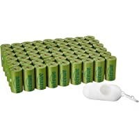 Amazon Basics Enhanced Dog Waste Bag with Dispenser and Leash Clip - 810 Count, Cucumber Scented