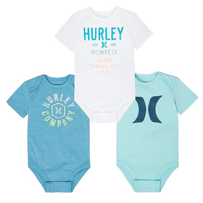 Amazon.com: Hurley Baby Graphic - Body de tres piezas: Clothing