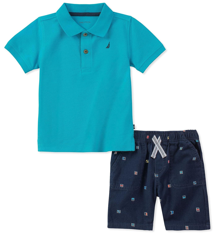 Nautica Baby Boys Polo with Shorts 62E72029-99