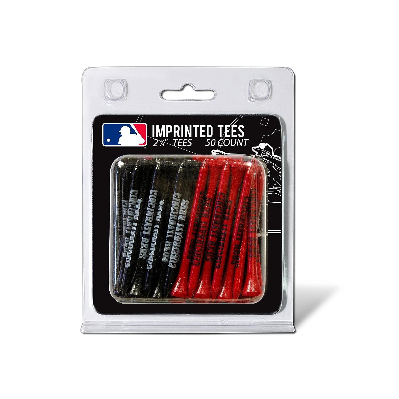 Team Golf MLB 2 3 4 Golf Tees 50 Pack Regulation Size Multi Team Colors