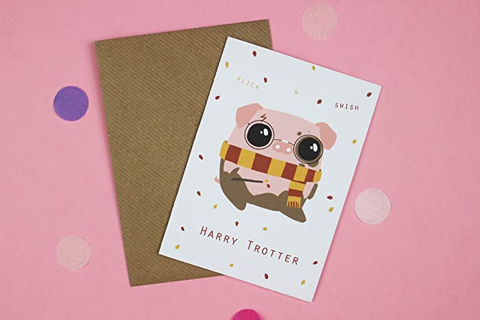 Harry Trotter Blank Greeting Card