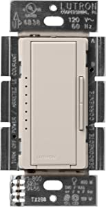 Lutron Maestro LED+ Dimmer for Dimmable LED, Halogen and Incandesent Bulbs | Single-Pole or Multi-Location | MACL-153M-TP | Taupe