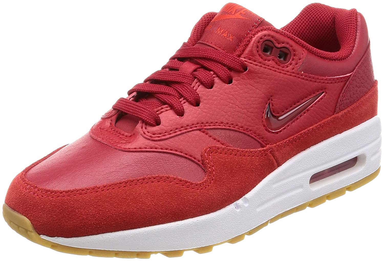 Nike W Air MAX 1 Premium SC, Zapatillas de Gimnasia para Mujer 38.5 EU|Rojo (Gym Red/Gym Red/Speed Red 602)