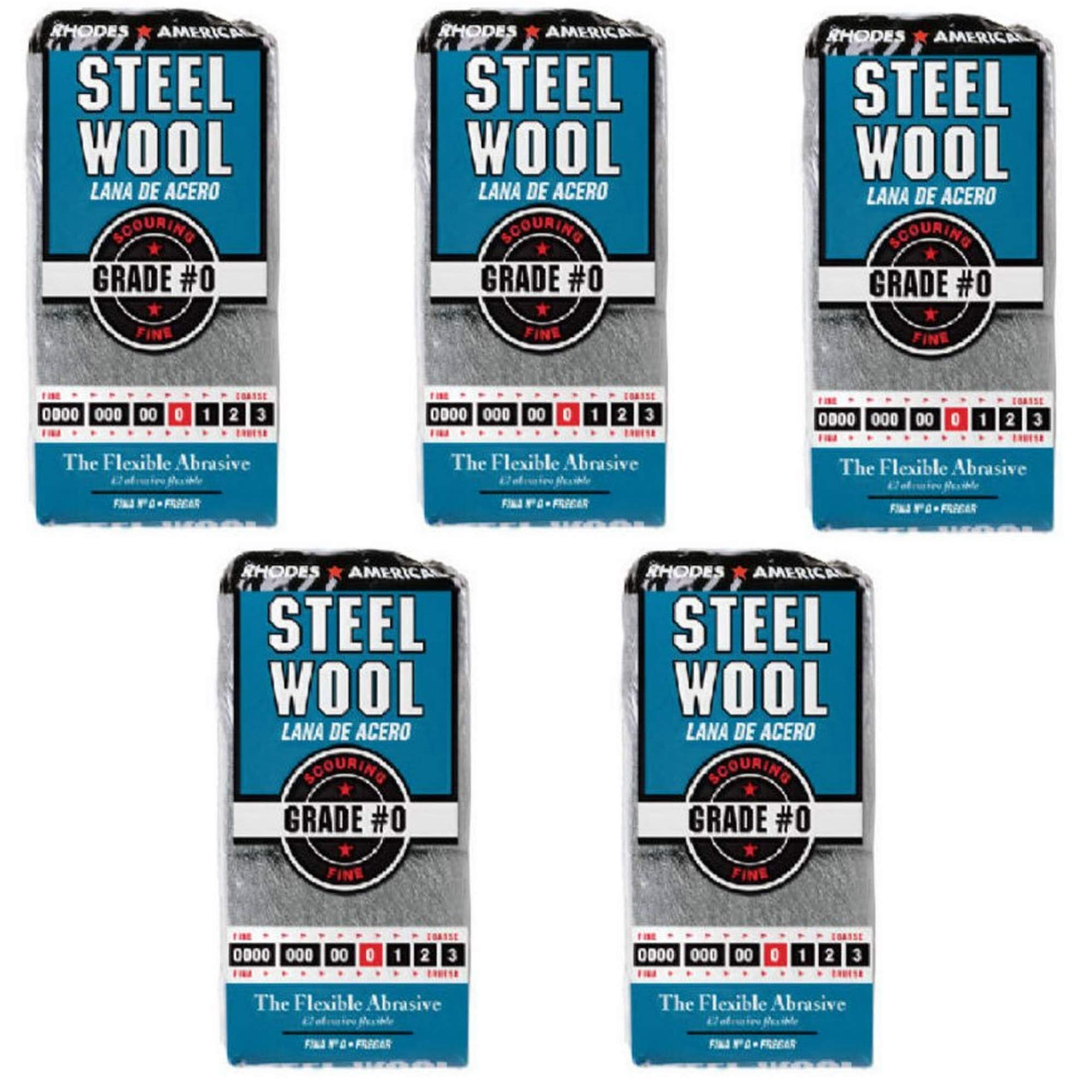 HOMAX Corporation 10121110 Steel Wool No. 0 PK/12, 5 Pack by Homax Products