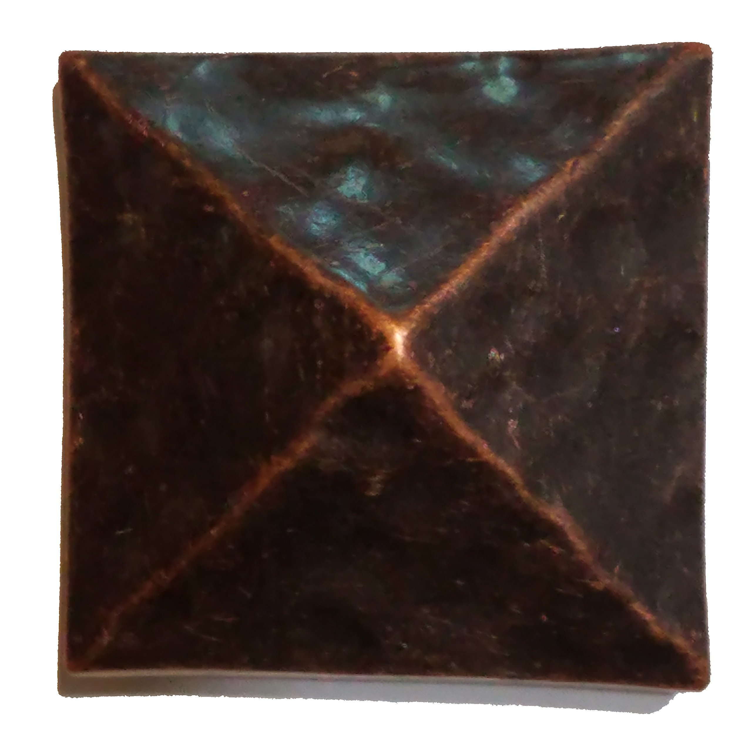 Square Pyramid Clavos Rustic Hammered Nail Heads About 1 3/8 inches (8)