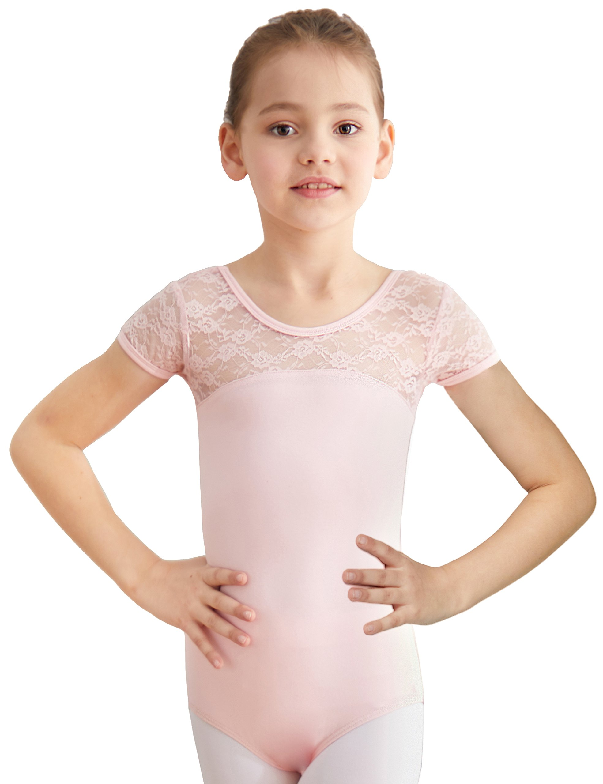 5d9df78ccbd7 Galleon - MdnMd Ballet Leotard For Toddler Girls With Bow Tie Back ...