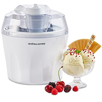 Andrew James Ice Cream Maker Machine With Detachable Mixing Paddle