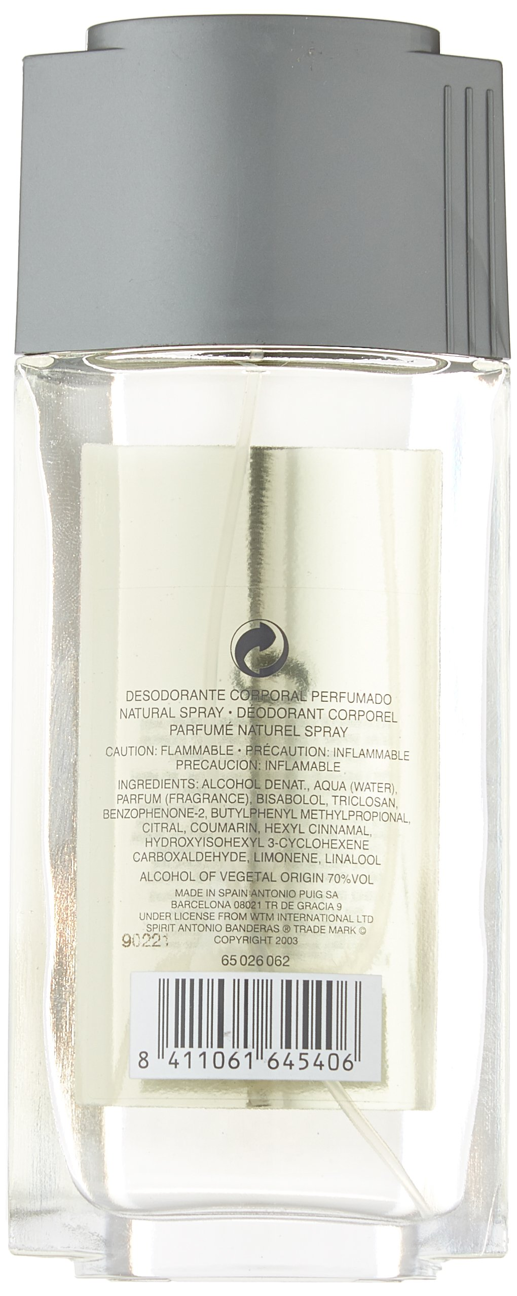 Antonio Banderas Spirit Perfumed Body Deodorant Spray for Men, 2.5 Ounce by Antonio Banderas (Image #1)