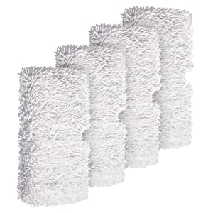 Shark Steam Pocket Mops,Household Washable Microfiber Mop Pads Cleaning Pads Replacement for S3500 series, S3501, S3601, S3550, S3901, S3801, SE450, White, 4Pcs