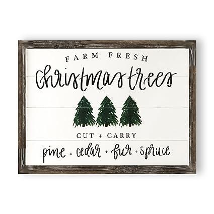 Amazon Com Christmas Trees Shiplap Wood Sign Rustic Home Decor