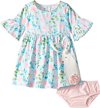 77a1e007c08 Amazon.com  Mud Pie Baby Girl s Bunny Dress (Infant Toddler)  Clothing