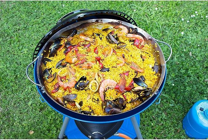 CAMPINGAZ, paellera Accesorio para Fiestas, Grill 600, Accesorio de Cocina, Color Plateado.