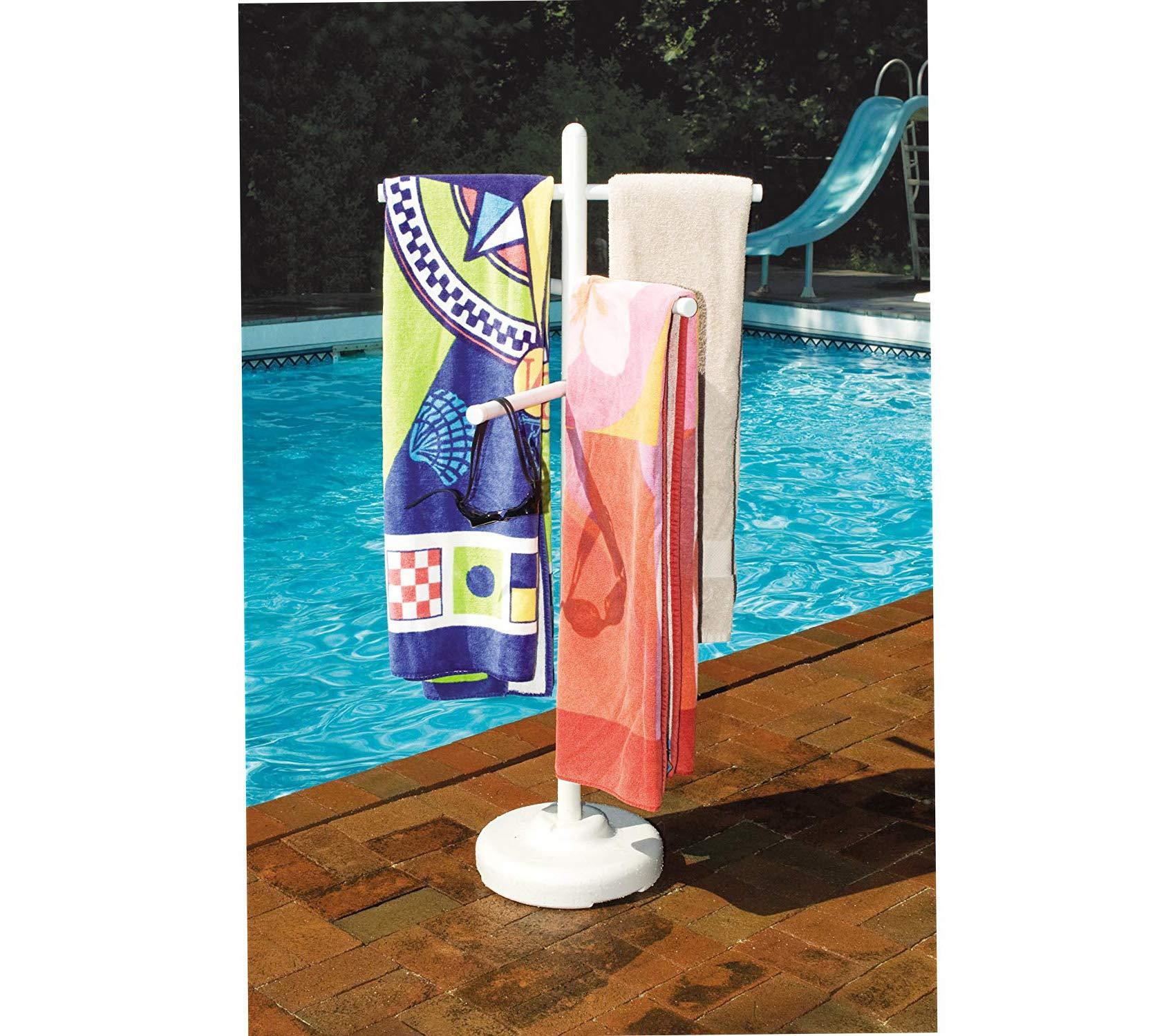 Home Décor Premium HydroTools by Poolside Towel Rack Storage