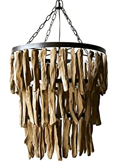 driftwood pendant light wooden creative coop driftwood chandelier 1975 ball pendant chandelier ceiling mounted light fixture