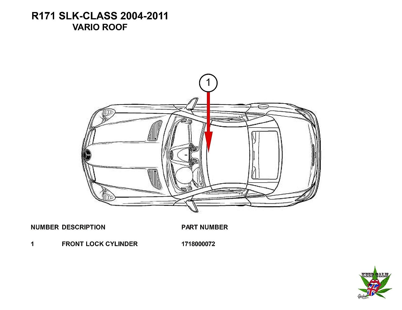 04-11 Mercedes SLK 280 350 55 AMG R171 Hydraulic Cylinder Roof Repair on
