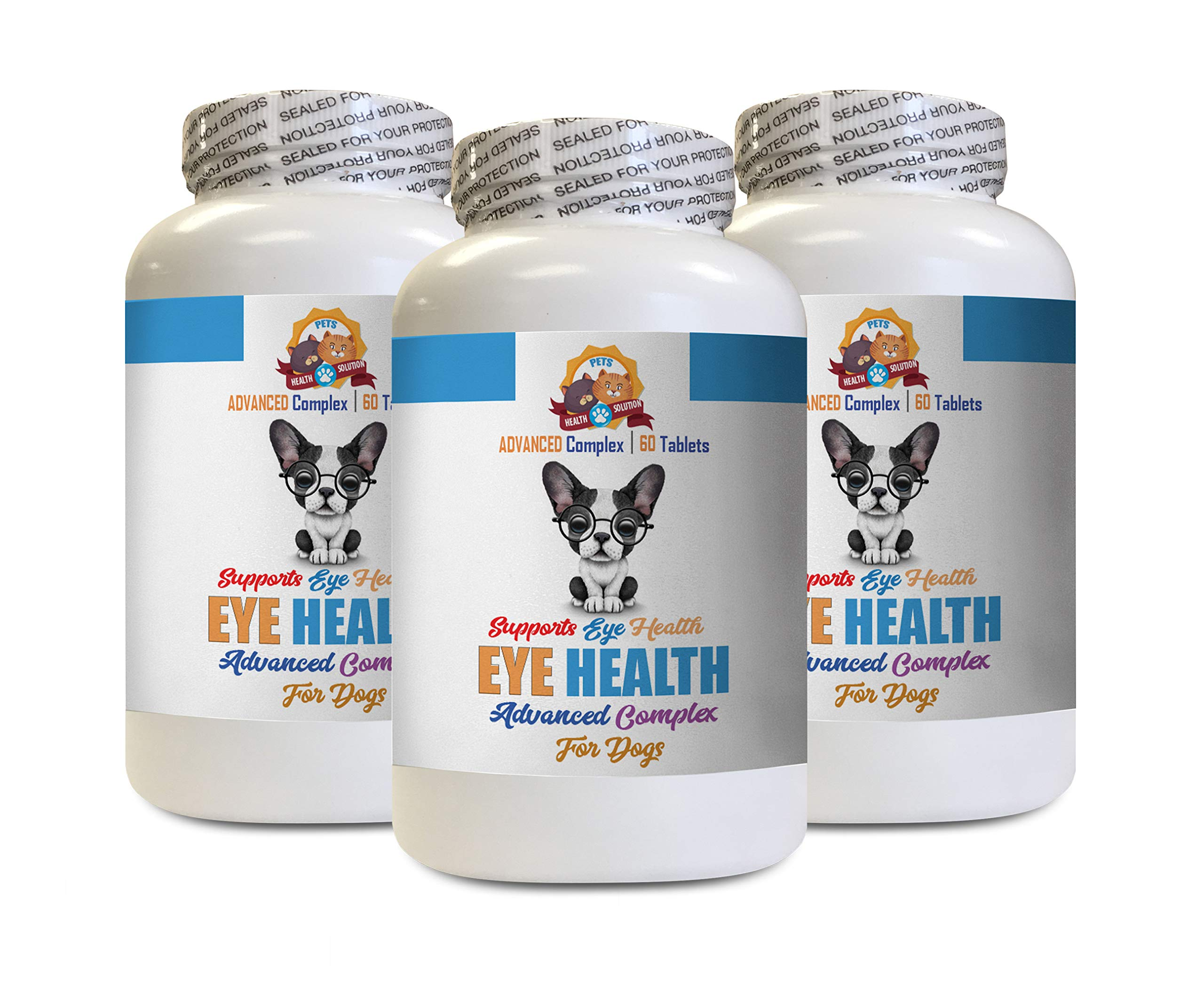 Canine Eye Supplement - Dog Eye Health Solution - Supports Vision - Advanced Complex - Dog coq10-180 Tablets (3 Bottles) by PETS HEALTH SOLUTION