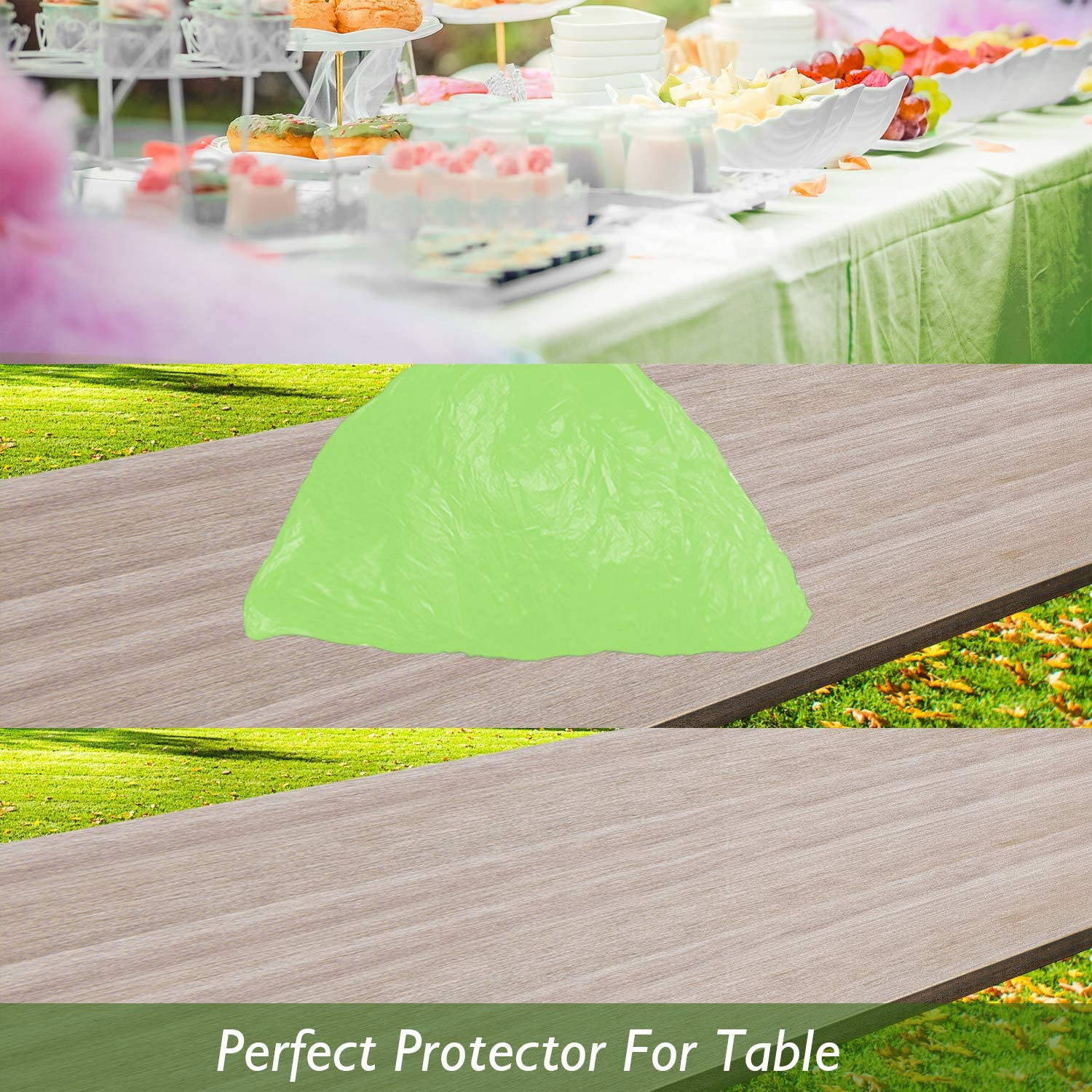 Black Plastic Tablecloths for Rectangle Tables 3 Pack 54 x 108 Party Table Cloths Disposable for 6 to 8 Foot Tables Indoor or Outdoor Parties Birthdays Weddings Christmas Anniversary Buffet Table