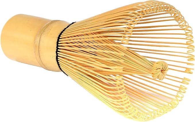 Skinny Black BambooMN Japanese Skinny Matcha Whisk Chasen Long Handle Traditional Matcha Utensil 1 Piece
