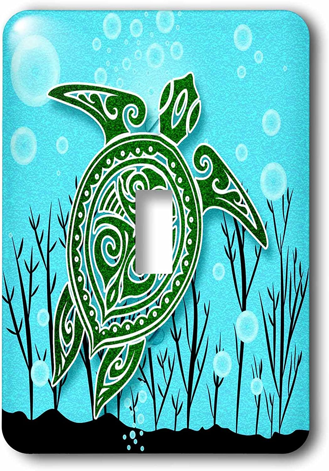 3drose Lsp 240142 1 Tropical Green Sea Turtle With Underwater Plants And Bubbles Single Toggle Switch Amazon Com