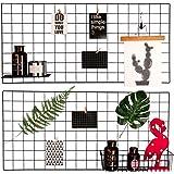 "Hosal Multifunction Grid Panel,Wall Decor/ Sculptural Frames & Holders / Wall Display/ Organizer, Pack of 2 Pcs, Size:15.7"" x 31.5"" / 40 x 80 cm,Black"
