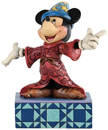 Jim Shore for Enesco Disney Traditions Sorcerer Mickey Figurine, 6.375-Inch