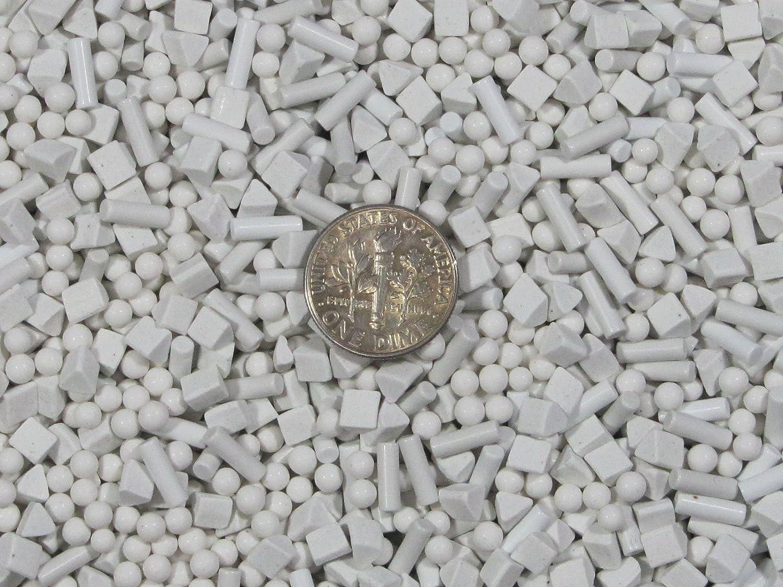 3mm Spheres 4 mm Triangles 2.5 X 8 mm Pins Mixed Polish Non-Abrasive Ceramic Tumbling Tumbler Tumble Media 1 Lb