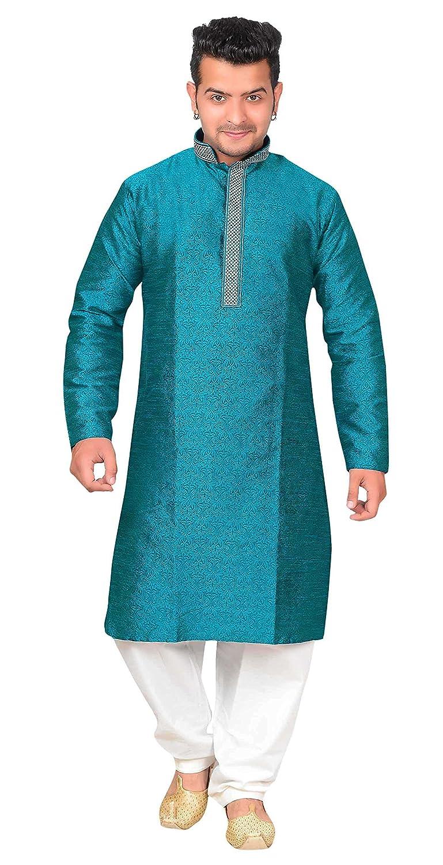 Amazon.com: Men\'s Kurta Shalwar Kameez Pajama Sherwani South Asian ...