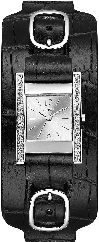 Guess Reloj Analógico para Mujer de Cuarzo con Correa en Piel W1136L2