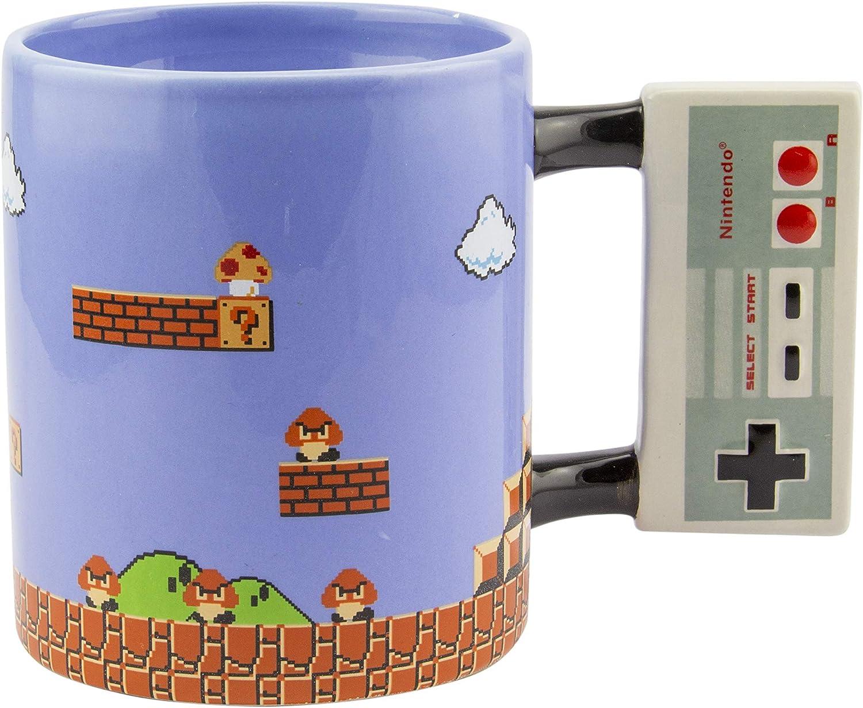 Nintendo NES Super Bros Mario Mug with Controller Shaped Handle
