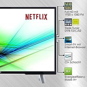 JVC LT-43VF53A 110 cm (43 Zoll) ist unserer Meinung nach der beste Fernseher bis 400 €