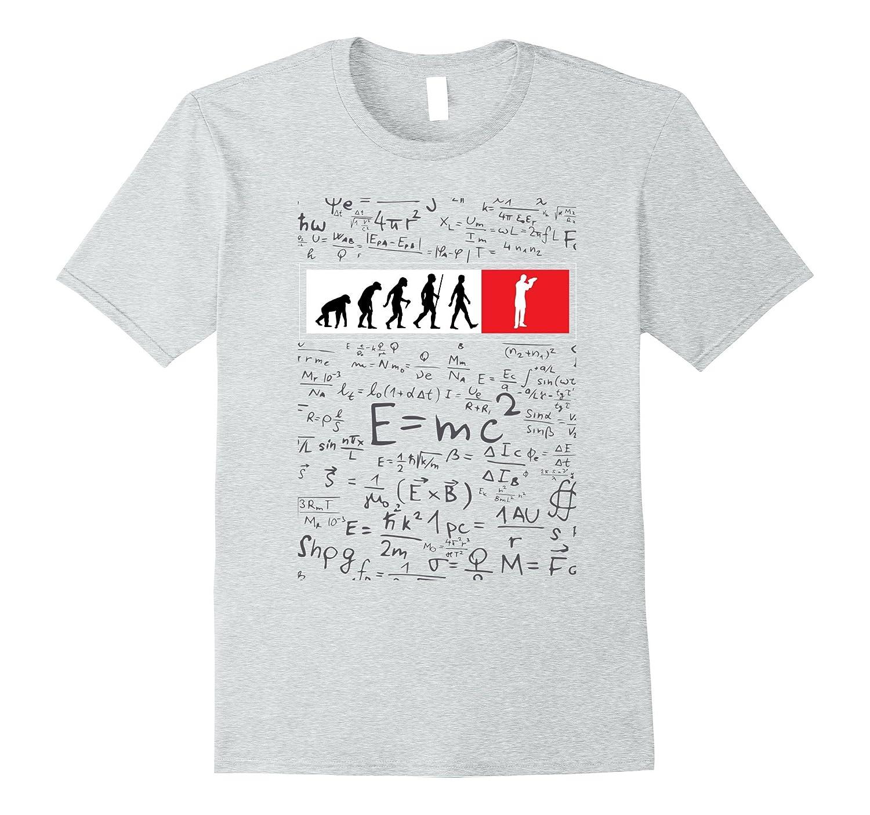 Funny bartender human evolution tshirt